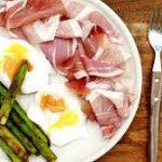 Asparagus egg ham