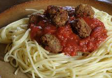meatballs and Pasta Small